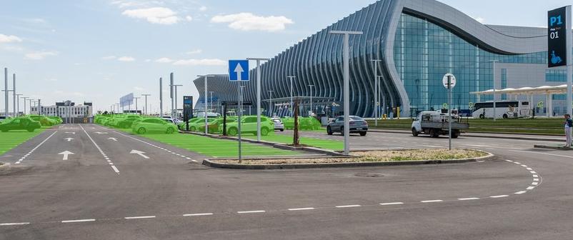 Парковочные места парковки P1